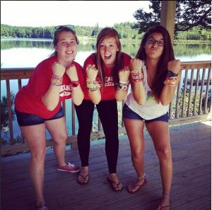 August, 2013. Camp Besties.