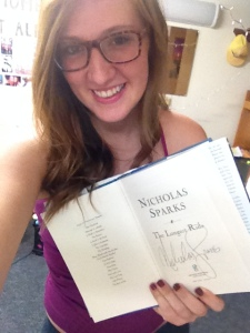 My SIGNED copy of The Longest Ride by Nicholas Sparks, one of my favorite authors. 2013.