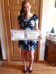 Scholarships awarded for my leadership excellence and for being a great student.